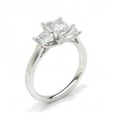 Princess Three Stone Engagement Rings
