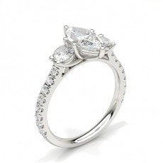 Marquise Trilogy Diamond Rings