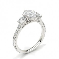 Pear Trilogy Engagement Rings