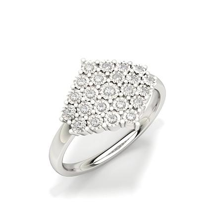 Faunk Prong Setting Round Diamond Fashion Ring