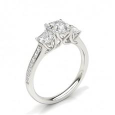 Asscher Trilogy Diamond Rings
