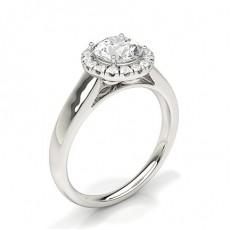 Radiant Halo Engagement Rings