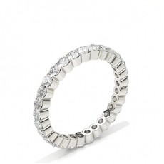 Prong Setting Round Diamond Full Eternity Ring