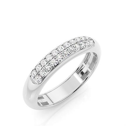 Micro Prong Setting Round Diamond Wedding Band