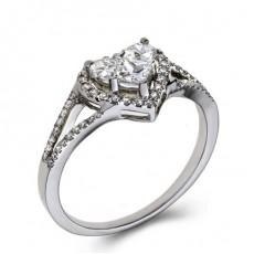 5 Prong Setting Diamond Engagement Rings
