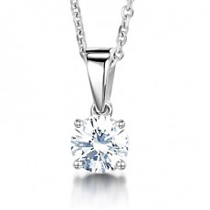 Round Diamond Pendants