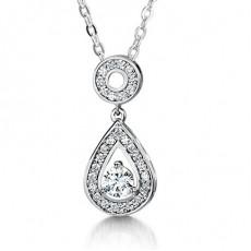 3 Prong Setting Diamond Pendants