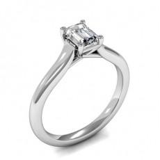 Emerald White Gold Solitaire Diamond Rings