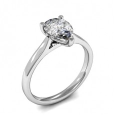 Pear White Gold  Solitaire Engagement Rings