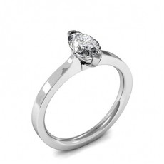 Marquise White Gold Solitaire Engagement Rings