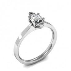 Marquise Platinum  Solitaire Diamond Engagement Rings