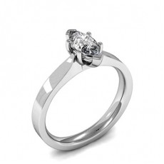 Marquise White Gold Classic Solitaire Engagement Rings