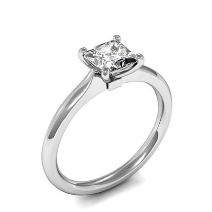 f3650132f30fd Bague de fiançailles solitaire diamant princesse serti clos - Diamonds  Factory