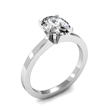 Diamant Verlobungsring In Einer Krappenfassung Diamonds Factory
