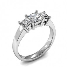 Princess  Trilogy Diamond Engagement Rings