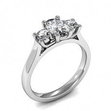Mixed Shapes Diamond Engagement Rings