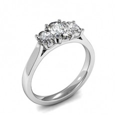 Oval   Trilogy Diamond Engagement Rings