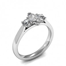 2 Prong Setting Diamond Rings