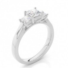 Platinum Trilogy Engagement Rings