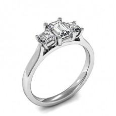 Mixed Shapes Platinum 3 Stone Diamond Rings