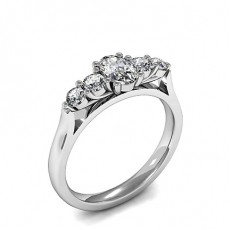 Mixed Shapes White Gold Anniversary Diamond Rings