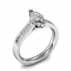 Marquise Side Stone Engagement Rings