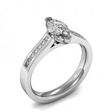 2 Prong Setting Side Stone Engagement Ring