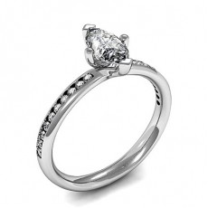 Full Bezel Setting Side Stone Engagement Ring