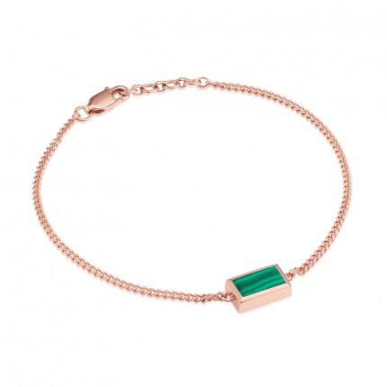 Sacet Ornate Rectangular Malachite Bracelet
