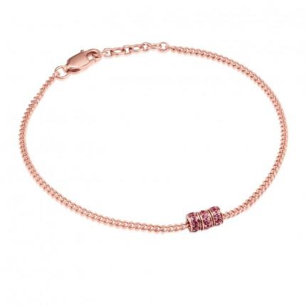 Sacet Ornate Garnet Bead Bracelet
