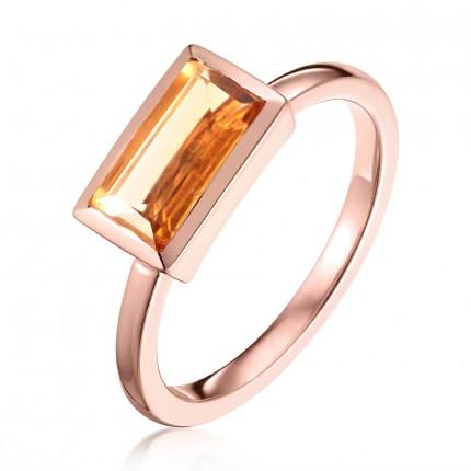 Sacet Ornate Citrine Ring