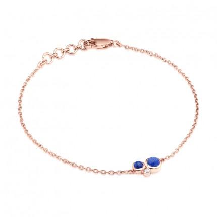 Sacet Orbis Lapis Fine Chain Bracelet