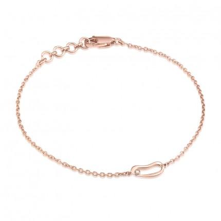 Sacet Marque Small Hoop Chain Bracelet