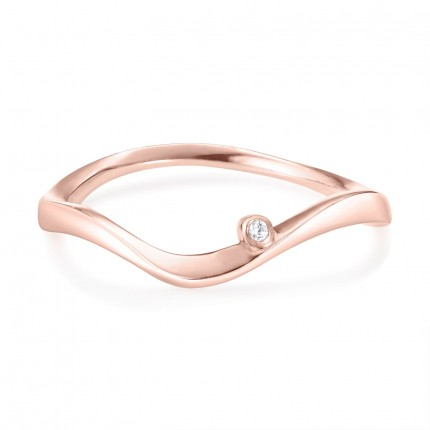 Sacet Marque Curved Ripple Ring